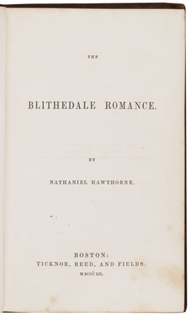 gender in hawthornes blithedale romance Gender in hawthorne's blithedale romance the blithedale romance, written by nathaniel hawthorne, is a story of a twisted utopia this perfect world is twisted in that the roles of gender have a traditional utopian representation, only with a more contemporary take.
